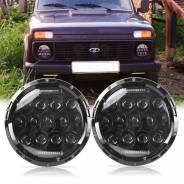 """Светодиодные фары 7"""" для Нива, УАЗ, Jeep [OffRoad-27]"""