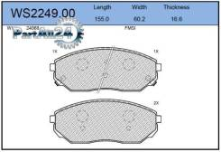 Колодки тормозные дисковые перед Jeenice WS224900