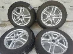 Отличный комплект литых дисков Balmunum на зимних шинах Bridgestone