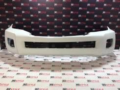 Бампер передний Toyota Land Cruiser 200 2м 12-15г Белый перламутр