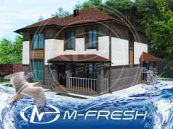 M-fresh Imperator (Проект коттеджа с большими комнатами. Посмотрите! ). 200-300 кв. м., 2 этажа, 6 комнат, бетон