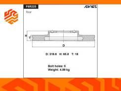 Диск тормозной Advics F6R225B задний (Япония)