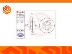 Диск тормозной Brembo 09A86414 передний