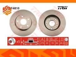 Диск тормозной TRW DF4810 передний