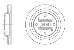 Диск тормозной Hyundai Sonata (EF) 2.0-2.5 98-01/Sonata (NF) 2.4 05- передний Sangsin Brake SD1045
