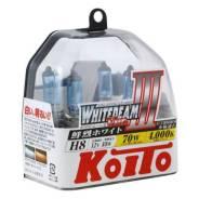 Лампа галогенная Koito H8 Whitebeam 4000K 12V 35W, 2 шт, P0758W