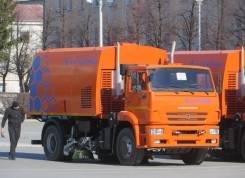 Кургандормаш КО-318Д. КО-318Д на шасси Камаз-53605 вакуумная подметально-уборочная (пылесос), 1 000куб. см.