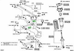 Сайлентблок 48702-22390 задней верхней продольной тяги LX80/GX80/SX80 Toyota 4870222390
