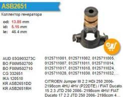 Коллектор генератора Bosch F00M502710
