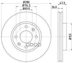 Тормозной Диск Nisshinbo арт. ND6010K ND6010K