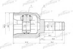 Шрус Mitsubishi Space Wagon 82-86, 94- [PCV5009] PCV5009