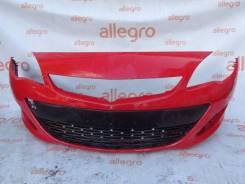 Бампер передний красный Opel Astra J 2012-16