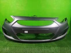 Бампер передний Hyundai Solaris Серый металик
