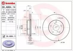 Диск тормозной Standard | перед | Brembo 09A86414