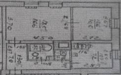 2-комнатная, улица Ленских рабочих 4. Центр, частное лицо, 45,2кв.м. План квартиры