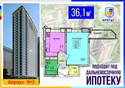 1-комнатная, улица Нейбута 17 кор. 5. 64, 71 микрорайоны, застройщик, 36,1кв.м.