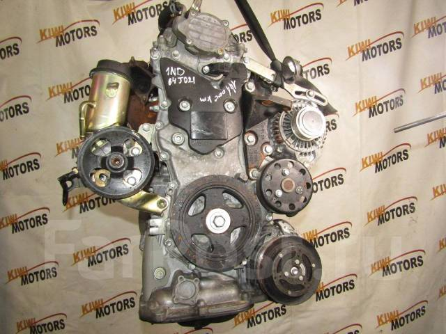Контрактный двигатель Тойота Ярис 1,4 TDI 1ND-TV