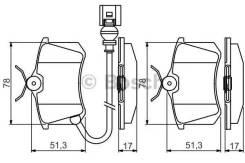 Дисковые колодки задние Bosch 0986495239 0986495239