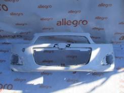 Бампер передний белый Chevrolet Aveo T300 2011+