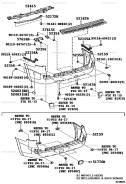 52159-60947 задний бампер LC200
