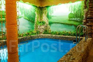 Баня на дровах, сауна, новый зал, бильярд, теплый бассейн , камин