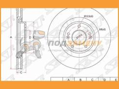 Диск тормозной перед Hyundai I40IX35KIA Optima 10- ST517122T100 SAT ST517122T100 ST517122T100