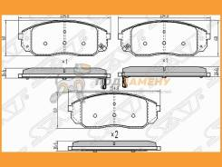 Колодки тормозные FR KIA Sorento 02-09 SAT / ST581013EE00, правый передний