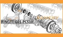 Кольцо Уплотнительное Шкива Коленвала (10 шт в упаковке) Febest / Ringtt001PCS10