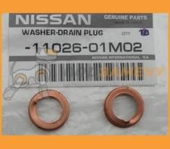 Прокладка сливной пробки поддона Nissan / 1102601M02