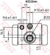 Колесный Тормозной Цилиндр Тормозная Система|Цилиндр TRW арт. BWF317