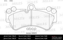 Колодки Тормозные Volkswagen Touareg 03/Porsche Cayenne 03 Передние Miles арт. e400272