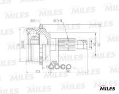 Шрус Mazda 6 1.8-2.3 02- Нар. (Abs) (Gkn 304312) Ga20223 Miles арт. GA20223