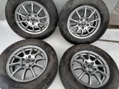 Отличные зимние шины Bridgestone 205/65 R15 на литье A-Tech 5/114