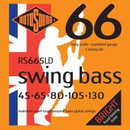 Струны для 5-струнной басгитары, сталь, 45-130. ROTOSOUND RS665LD BASS STRINGS STAINLESS STEEL