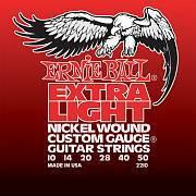 Струны для эл.гитары Nickel Wound Extra Light (10-14-20w-28-40-50), Ernie Ball 2210