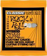 Комплект струн для электрогитары, никель, 09-46, Ernie Ball 2252 Classic pure nickel, Hybrid Slinky