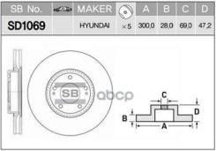 Диск Тормозной Sd1069 (51712-3k160, 51712-3k110) Sangsin brake арт. SD1069 SD1069