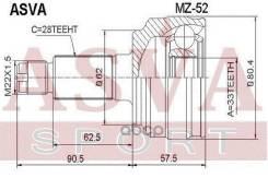 Шрус Наружный 33x62x28 ASVA арт. MZ-52 Mz52 Asva ASVA MZ52