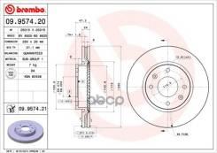 Диск Тормозной Передний! Hyundai Sonata 2.0/2.7 V6 01 Brembo арт. 09957420 09.9574.20_ 09957420