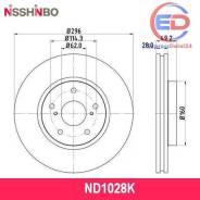 Диск тормозной перед (6r) Nisshinbo ND1028K ND1028K