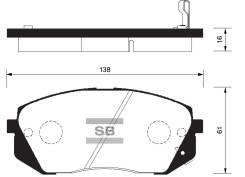 Колодки дисковые п. Hyundai ix35, Kia Sportage 10 Sonata / Kia Optima 10 SP1196