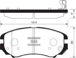 Колодки дисковые передние Hyundai Tucson/Coupe, Kia Sportage 1.62.7 02 SP1155