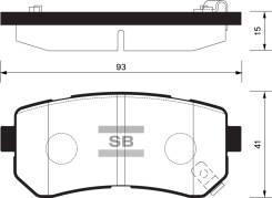 Колодки дисковые задние Hyundai Accent/i20/i30/ix35 04, KIA Ceed/Rio/Sportage SP1187