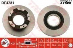 Тормозной диск Trw DF4281 Hyundai / Kia (Mobis): 5841139300 5841139600 Hyundai (Beijing) Sonata (Nf). Hyundai (Beijing) Sonata (Nfc). Hyundai