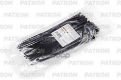 Комплект Пластиковых Хомутов 3.6 Х 200 Мм, 100 Шт, Нейлон, Черные PATRON арт. P36200B