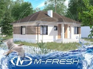 M-fresh Rodnik (Готовый проект небольшого, но вместительного дома! ). 100-200 кв. м., 1 этаж, 4 комнаты, бетон
