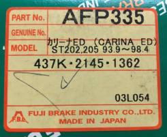 Колодки тормозные дисковые передние FBL AFP-335 комплект AFP335