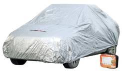 Чехол-тент на автомобиль защитный, размер S (455х186х120см), цвет серый, молния для двери, универсальный Airline ACFC01