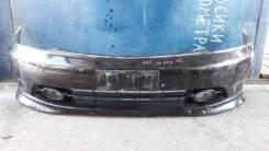 Бампер передний Honda Stream (RN) 03-06 год 2мод черный с губой