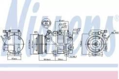 Компрессор кондиционера 890151 (Nissens — Дания)